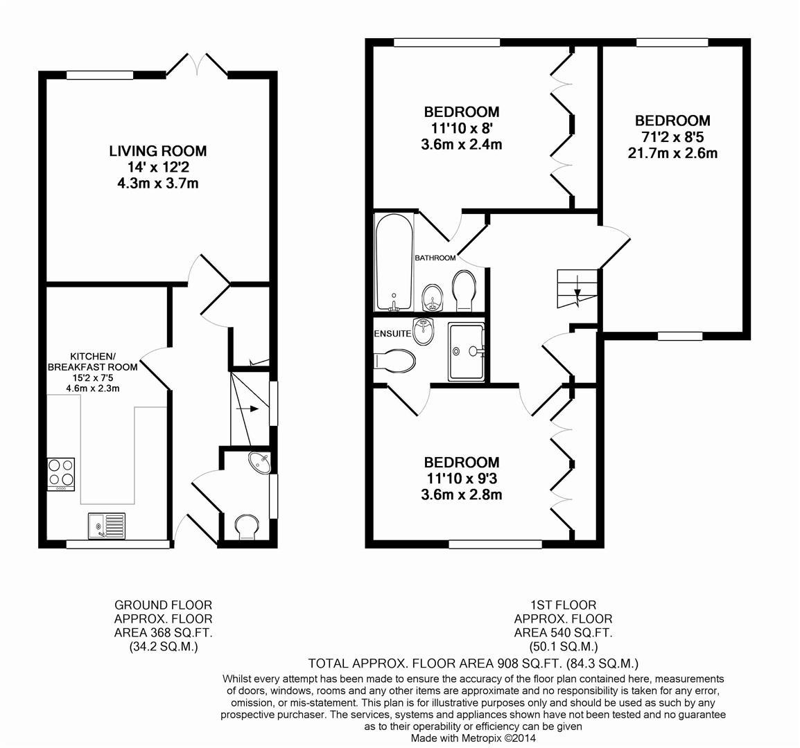 Floorplan for Halls Drive, Horsham